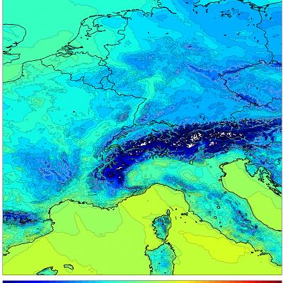 1km WRF Temps Europe