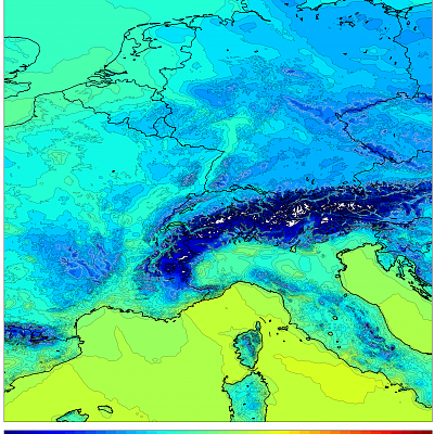 1km WRF Temps Europe